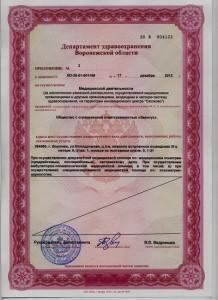 Единая лицензия на медуслуги - 5 (Элпис)
